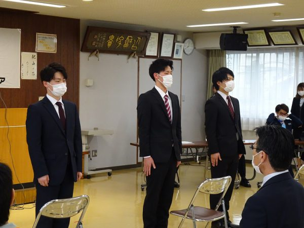 入社式を行いました。