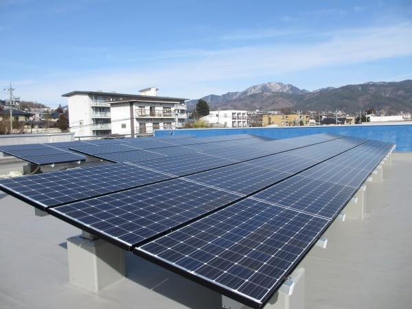 太陽光発電システム。
